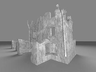 3d残垣断壁模型