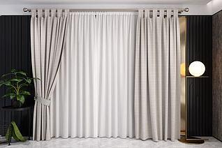 3d布艺窗帘纱帘模型