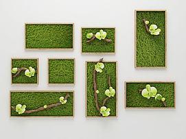 现代植物装饰画模型