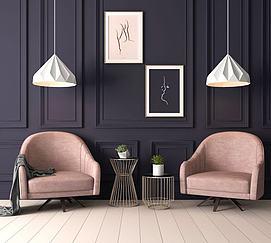 现代单人休闲沙发椅模型