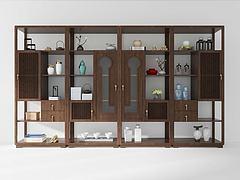 新中式装饰柜模型3d模型