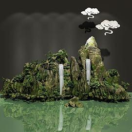 三维假山模型