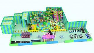 森林淘气堡3d模型