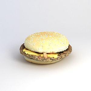 3d汉堡模型