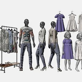 3d服装模特模型