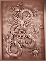 新中式龙雕铜雕模型3d模型