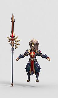王者荣耀游戏角色3d模型