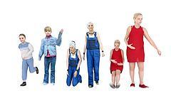 一家人大人小孩组合模型3d模型