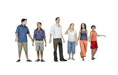 现代时尚都市人物组合模型3d模型