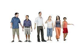 现代时尚都市人物组合模型