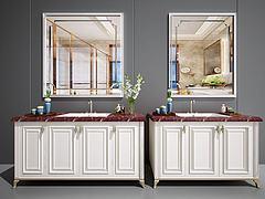 卫浴柜洗脸台面盆洗手池模型3d模型