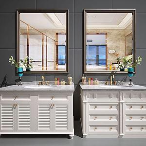 欧式美式卫浴柜模型