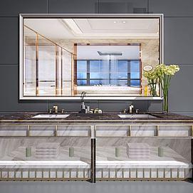 新中式卫浴柜洗?#31243;?#38754;模型