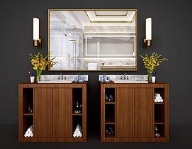 新中式卫浴柜洗?#31243;?#27169;型