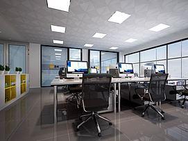 办公室办公桌模型