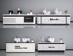 现代接待台指导台收银台模型3d模型