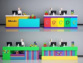 幼儿园接待台指导台收银台模型