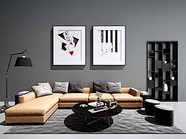 现代北欧沙发茶几装?#20301;?#27169;型