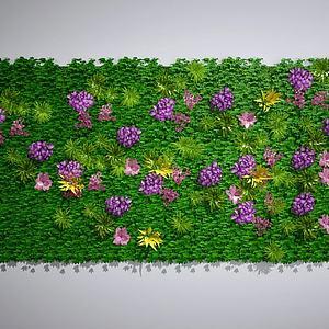 植物墙墙绿植墙景观墙模型