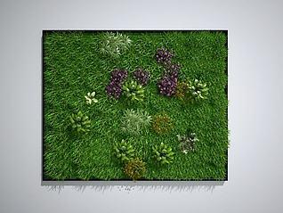 植物墙墙绿植墙景观墙3d模型