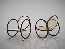 现代休闲椅子模型