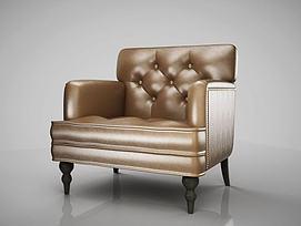 美式单人沙发模型