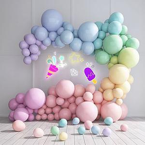 婚慶氣球網紅美陳模型3d模型