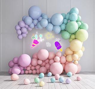 婚庆气球网红美陈3d模型
