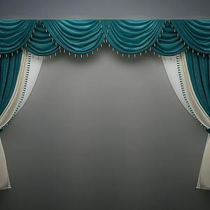 欧式简欧窗帘模型