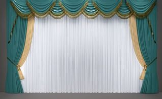 歐式簡歐窗簾3d模型