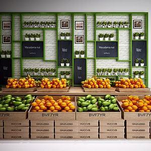 水果摊展柜模型