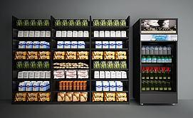商品展架展柜冰箱冰柜模型
