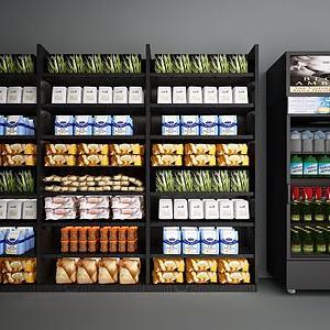 3d商品展架<font class='myIsRed'>展柜</font>冰箱冰柜模型