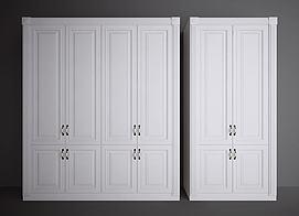 欧式美式衣柜模型