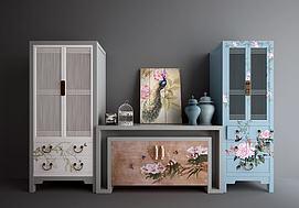 新中式衣柜端景柜装饰柜模型