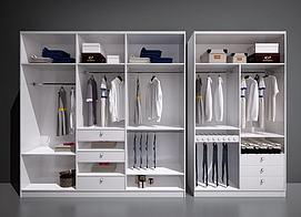 现代北欧衣柜模型