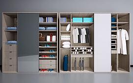 新中式衣柜装饰柜模型