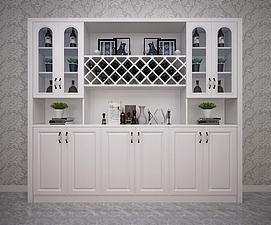 欧式简欧美式装饰柜模型