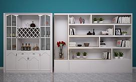 欧式简欧装饰柜模型