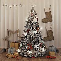 圣诞树礼物3d模型