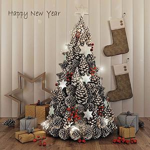 3d<font class='myIsRed'>圣诞</font>树礼物模型
