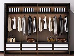 后现代北欧衣柜装饰柜模型3d模型