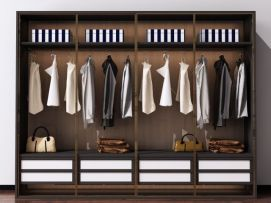 后现代北欧衣柜装饰柜模型