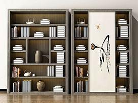 新中式书柜陈列柜装饰柜模型
