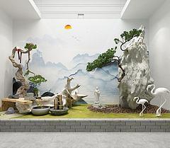 园艺小景模型3d模型