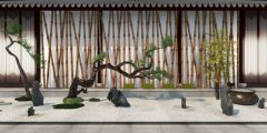 3dmax园艺小品园林景观模型3d模型