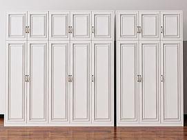 欧式简欧美式衣柜装饰柜模型