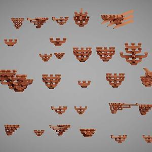 中国古建筑构件斗拱模型
