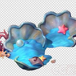 海螺贝壳海景模型