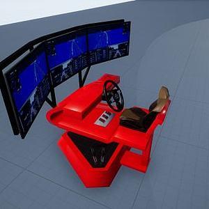 六自由度虚拟驾驶器模型